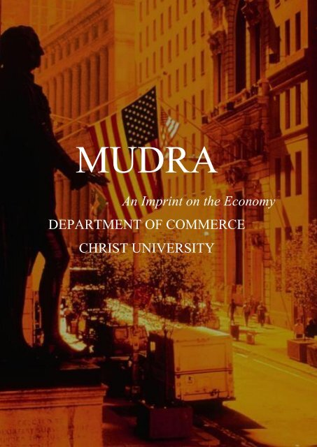 MUDRA MAGAZINE AUGUST EDITION - Christ College