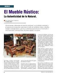 El mueble rústico - Revista El Mueble y La Madera