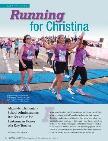 Running aA - Katy Magazine