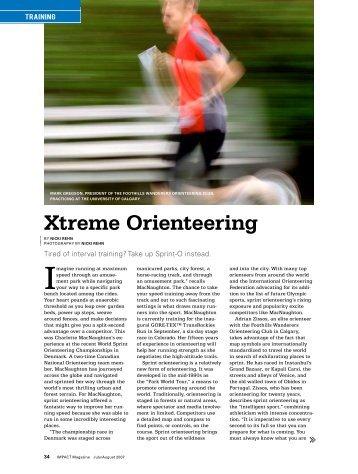 Xtreme Orienteering - Canadian Orienteering Federation