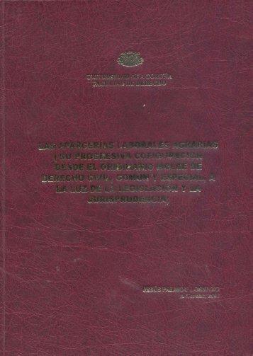 LAS APARCERIAS LABORALES AGRARIAS (Sll ... - RUC