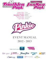 EVENT MANUAL 2012 - 2013 - Triathlon Pink