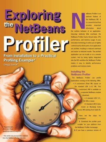 Exploring the NetBeans Profiler