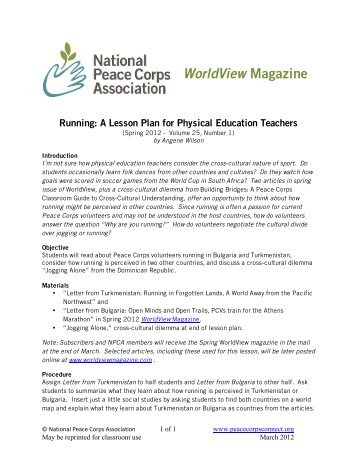 !!!!!WorldView Magazine - National Peace Corps Association