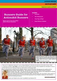 Runners Guide - ActionAid