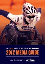 2012 ING New York City Marathon Media Guide - NYRR