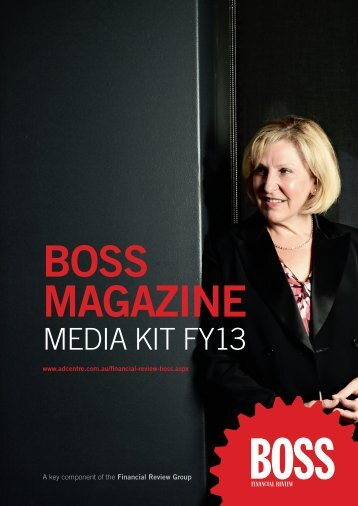 boss magazine - Adcentre.com.au
