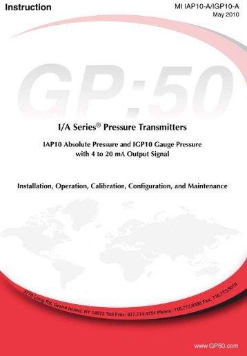 Model GPIGP-A (4-20mA only) - Gp:50