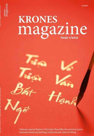 Krones magazine 01/2012 Krones PET recycling