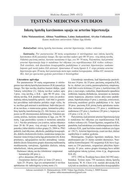 hipertenzijos santrauka lucidum su hipertenzija