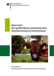 Rote Liste gefährdeter einheimischer Nutztierrassen in Deutschland