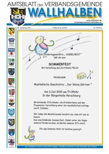 Sonntag, 11. Juli 2010 - Verbandsgemeinde Wallhalben