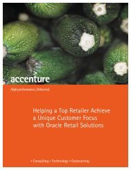 Helping a Top Retailer Achieve a Unique Customer Focus with ...