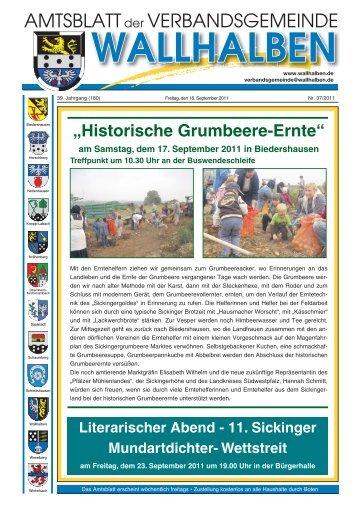 """""""Historische Grumbeere-Ernte"""" - Verbandsgemeinde Wallhalben"""