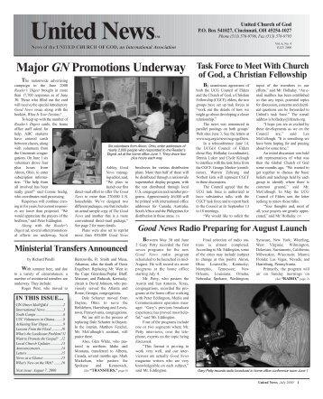 United News™ - United Church of God