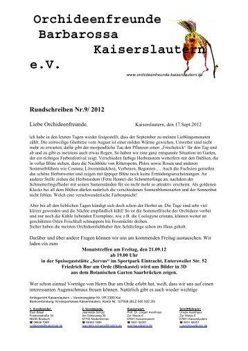 Orchideenfreunde Barbarossa Kaiserslautern eV
