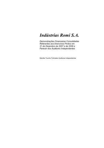 Indústrias Romi S.A.