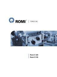 TORNOS CNC Romi C 420 Romi C 510 - Industrias Romi S.A.