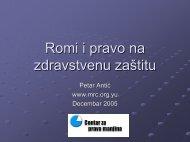 Romi i pravo na zdravstvenu zaštitu