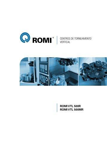 Catálogo ROMI VTL 500R e ROMI VTL 500MR