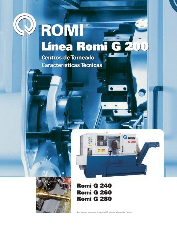 Línea Romi G 200 - Industrias Romi S.A.