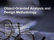 Object-Oriented Analysis and Design Methodology - Romi Satria ...