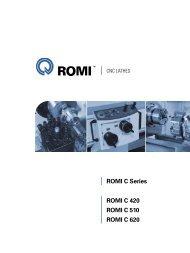 high machining productivity - Romi