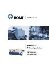 ROMI GL 350 ROMI GL 350M ROMI GL Series Technical ...