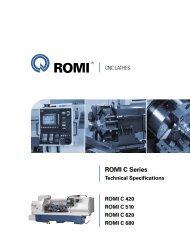 ROMI C 680 technical specifications - Industrias Romi S.A.