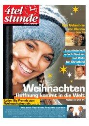 Weihnachten 2005 - Hoffnung kommt in die Welt.pdf - Viertelstunde.ch