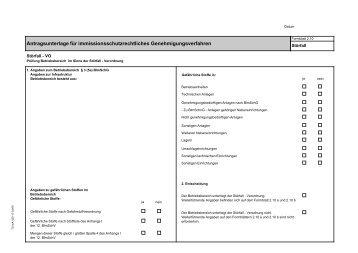 Antragsunterlage für immissionsschutzrechtliches ...