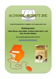 Kleine Blumen, kleine Blätter. Goethes Poesie ... - School-Scout