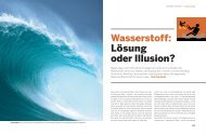Wasserstoff-Illusion - Reporterpool