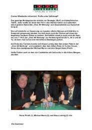 Montagsturnier vom 31.03.2008 - Spielbank Wiesbaden