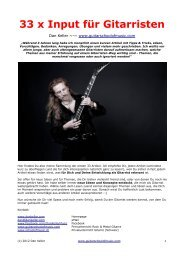 33 x Input für Gitarristen - TRITONE - School of Music