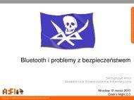 Bluetooth i problemy z bezpieczeństwem - Akademickie ...