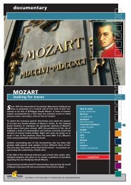 documentary MOZART looking for traces - Interspot Film