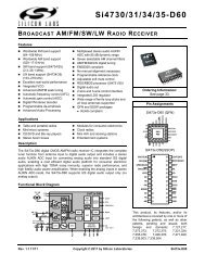 Si4730/31/34/35-D60 - Silicon Labs