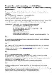 Protokoll der 1. Vollversammlung vom 15.11.07 des Stadtelternrates ...