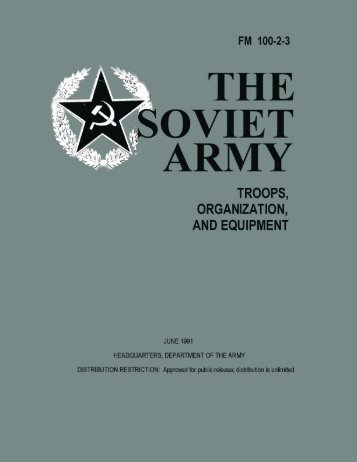 FM 100-2-3 The Soviet Army Troops, Organization and Equipment
