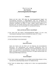 "S a  t  z  u  n  g des Vereins ""Karnevalsgesellschaft ... - kg-heggen.de"