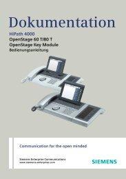 OpenStage 60_80 T (HiPath 4000), Bedienungsanleitung, Ausgabe ...