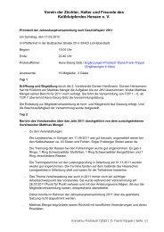 Protokoll Jahreshauptversammlung 2012 - Kaltblutverein Hessen