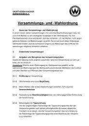Versammlungs- und -Wahlordnung - SV Wacker Burghausen eV