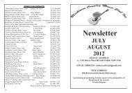 Newsletter - Blacktown Country Music Club