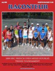 July 2009 HOUSTON RACQUET CLUB RACONTEUR