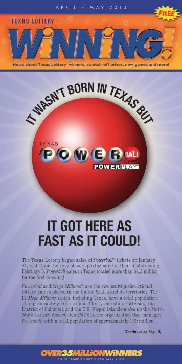 powerball is here! - Texas Lottery