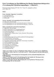 Erste Verordnung zur Durchführung des Bundes - Der ...
