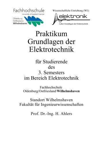Praktikum Grundlagen der Elektrotechnik - Fachhochschule ...