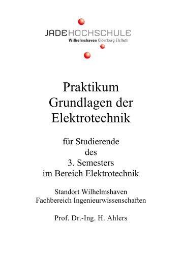 Praktikum Grundlagen der Elektrotechnik